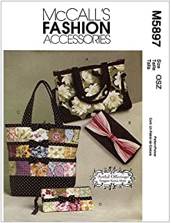 McCall's Patterns M5897 Totes and Bags, One Size Only