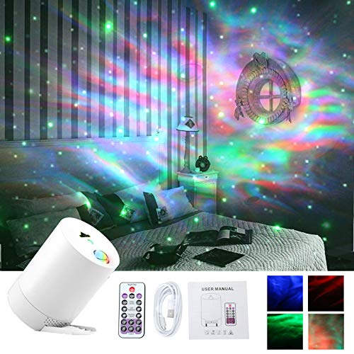 Yafido LED proyector de estrellas Lámpara Proyector Infantil con Control Remoto y Temporizador Mando a Distancia Baby Luz nocturna for Disco KTV Bar Home Theater
