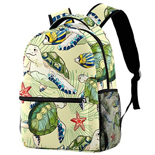 Zaino Per Scuola Animale tartaruga Bambino Elementare Borsa Zainetto impermeabile Zaini Scolastici Zaino Backpack Zaini per Bambini Ragazza 29.4x20x40cm