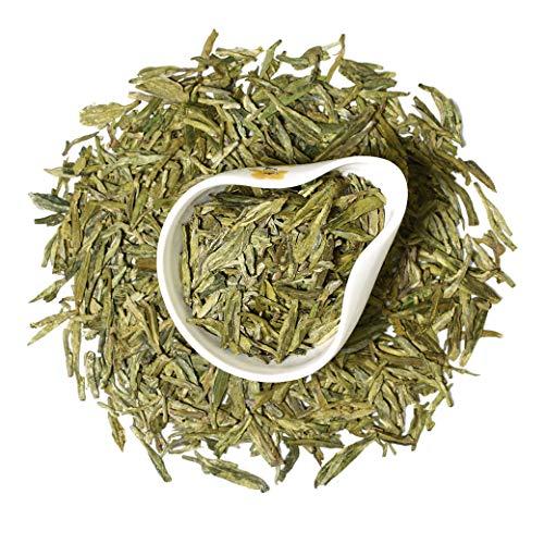 GOARTEA 250g (8.8 Oz) Organic Top West Lake Xi Hu Xihu Dragon Well Long Jing Longjing Spring Leaf Chinese GREEN TEA Tee