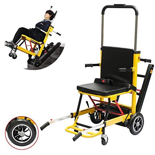 HBIAO 200W Elektro-Rollstuhl Stairlift Climbing Aufzug Motorisierte Lithium-Batterie-Climbing Raupen Elektrische Treppen Rollstuhl Aluminiumlegierung Faltbare bewegliche