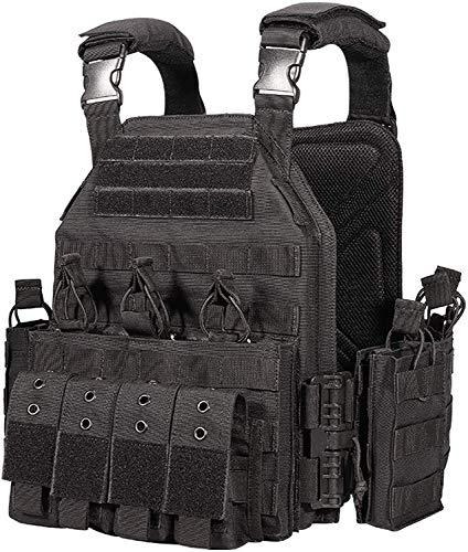 CAMO Quick Release Tactical Outdoor Vest (Black)