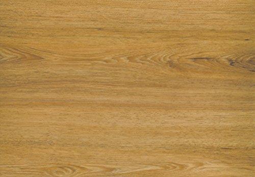 BODENTREND Vinyl Boden zum kleben 1 Paket (3,77 m²) 0,30 mm Nutzschicht 2 mm Stärke Holzoptik (Zillertaler Eiche) Klebevinyl Klebefliesen Vinylfliesen zum Verkleben für Küche Bad Wohnzimmer Wasserfest