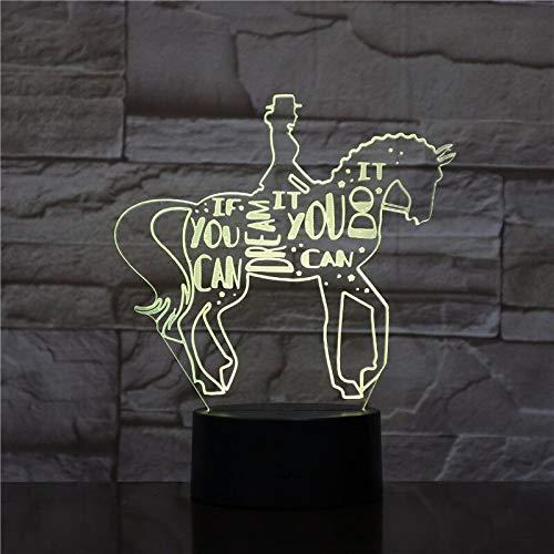 Reiten Tier ing Muti Weihnachtsspielzeug Luminaria Nachtlicht 3D LED Tischlampe Kinder Geburtstagsgeschenk Nachtzimmer Dekoration