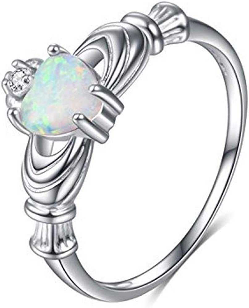 Blocaci Heart Engagement Rings Gifts Max 46% OFF for Women Wedding R Holding
