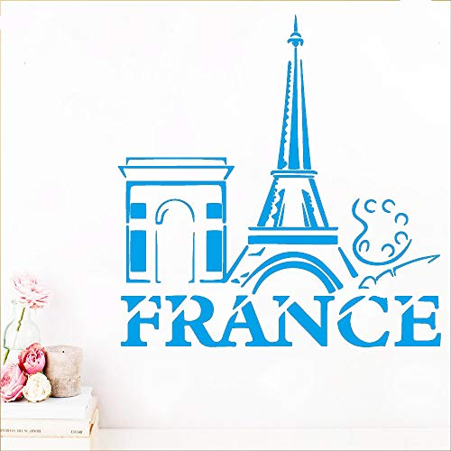 yiyiyaya Frankreich Wandkunst Aufkleber Aufkleber PVC Material Für Kinder Wohnzimmer Haus Dekoration Aufkleber Kreative Aufkleber blau 30 cm X 30 cm