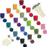 Lzshop-EU 16 Colori per Candele tintura di Cera di soia colorante in Fiocchi per la Fabbricazione di Candele colorante per Cera per Candele Fai da Te 5 g Ogni Confezione (16 * 5g)
