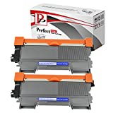 Perfect Print TN2010 - Cartucho de tóner láser para impresora Brother DCP-7055 DCP-7057 HL-2130 HL-2132 HL-2135W (2 unidades/1000 páginas)