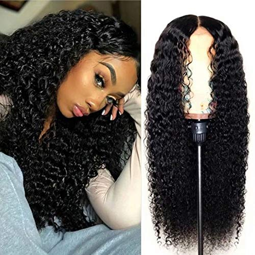 Maxine Hair 4x4 Closure Wig 28 Inch Curly Human Hair Wig For Black Women Deep Part Preplucked Brazilian Remy Hair Lace Closure Wig