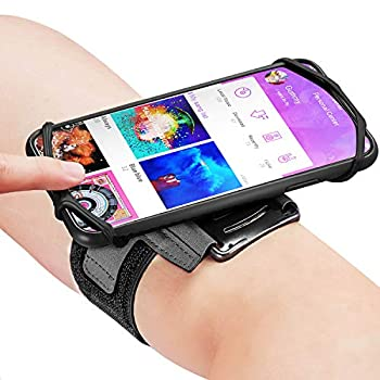 Newppon 180° Rotatable Running Phone Armband  with Key Holder for Apple iPhone 12 11 Pro Max Xs XR X 8 7 6 6S Plus Samsung Galaxy S10 S9 Edge Note 8 Google Pixel,for Sports Workout Exercise Jogging
