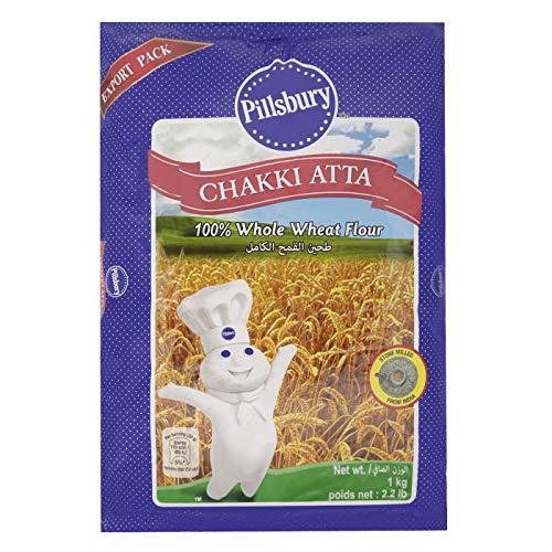 アタ粉 (全粒粉) 1kg Pillsbury Chakki Atta  チャパティ(ロティ) 小麦粉