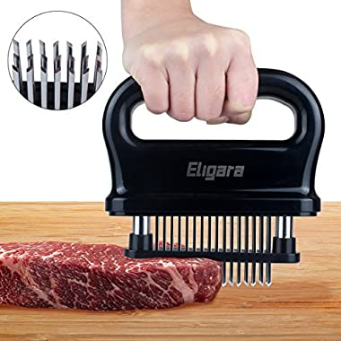 Eligara Meat Tenderizer with 48 Stainless Steel Needle Blade, Steak Pork Tenderizers with ABS Safe Plastic, Lightweight & Durable Kitchen Cooking Tool