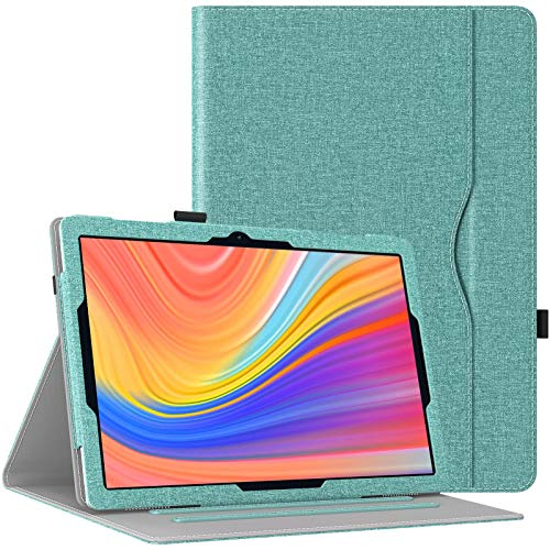 TiMOVO Funda Protectora Portátil de PU Compatible con Vankyo MatrixPad S10 10 Inch Tablet, Carcasa Trasera Delgada con Estela/Sueño Auto, Protector de Mano con 2 Ángulos Ajustables, Verde
