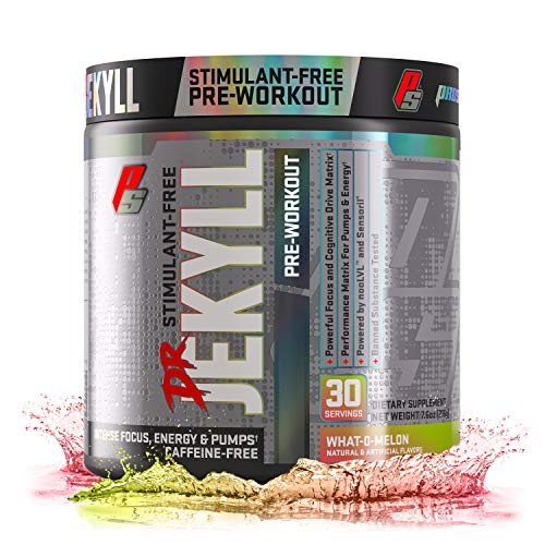 ProSupps® Dr. Jekyll® Stimulant-Free Pre-Workout, Caffeine-Free, Energy Powder, Intense Focus, Energy & Pumps, (30 Servings, What-O-Melon)