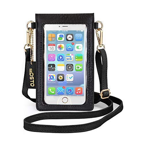 seOSTO Cell Phone Purse, Lightweight Small Wallet Purses and Handbags with 2 Shoulder Strap for Women