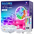 Led Strip Lights 32.8ft, Bason Led Lights for Bedroom with 44 Keys Remote and Power Supply, High Bright 300 LEDs Color Changing Light Strips Kit for Kitchen,Bar,Indoor,Party DIY Decoration.