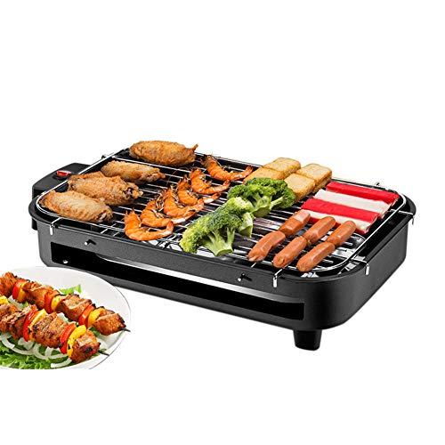 Luckylj Family Health Grill, medium-stalen grill, zonder rook