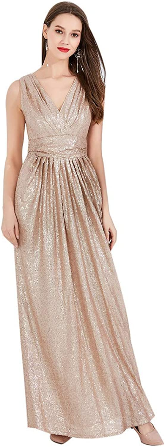 Women's Flapper Sleeveless Evening Prom Dresses 1920s Deep V Neck Backless Tassel Fringed Great Gatsby Maxi Dress