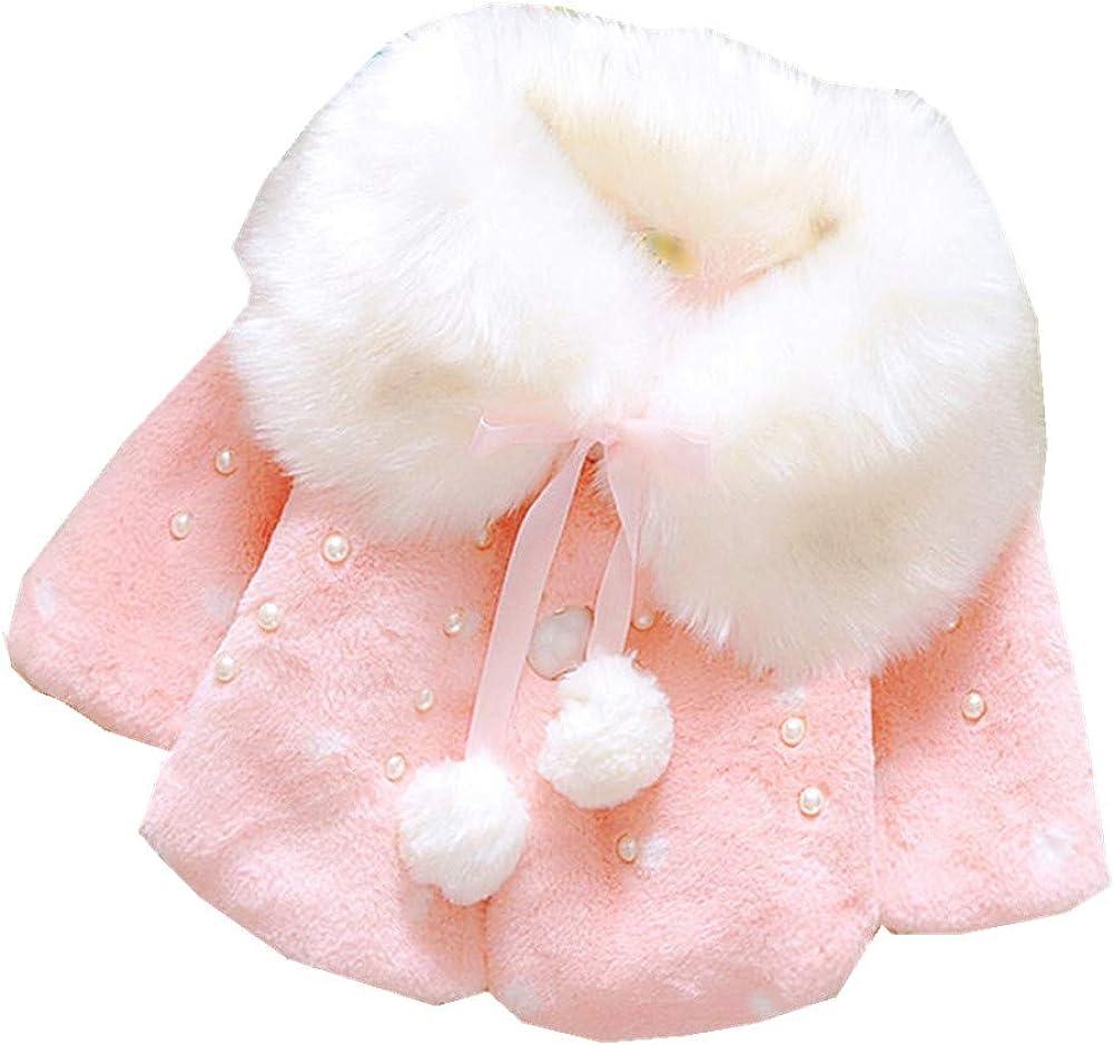 FTSUCQ Girls Sweet Winter Fleece Coat Cape