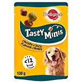 Pedigree Tasty Minis Dog Treats Chewy Cubes with Chicken, 130g