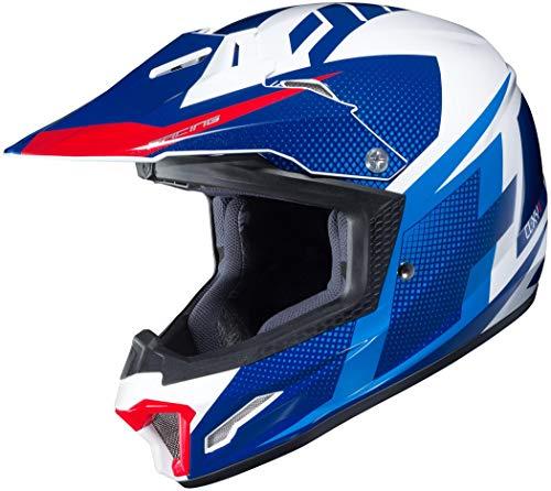 HJC Unisex Child Off-Road Helmet (Blue/White/Red, XL)