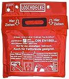 Löschdecke 1,60 x 1,80 m Geprüft MPA Dresden nach DIN EN 1869:2001, (auch für Fettbrände),...