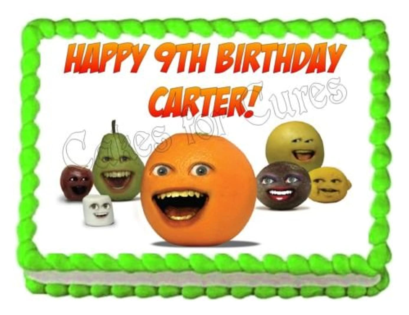 ANNOYING ORANGE edible party cake decoration topper cake image sheet pxu4811979