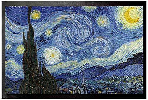 1art1 Vincent Van Gogh - Noche Estrellada, 1889 Felpudo Alfombra (60 x 40cm)