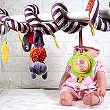 Cute Baby Activity Spiral Wrap Around Crib Bed Stroller Rail Toy Animales Asiento de coche Juguetes, Baby Activity Peluches Colgantes Sonajero Juguete