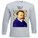 Photo de teesquare1st Men's Edward Elgar Composer T-Shirt à Manches Longues pour Homme Size Large par