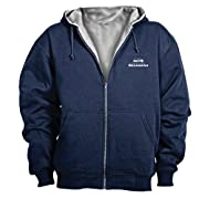 10-Ounce outer shell with 7-Ounce thermal lining Front pouch pocket YKK Zipper, so popular full-zip hoodie Brand name: Dunbrooke Apparel
