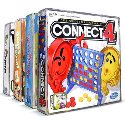 Board Game Organizer 4 Pack Puzzle and Game Storage This Storage Bag Keeps All Your Games Neatly-No Lost Pieces and No Smashed Boxes