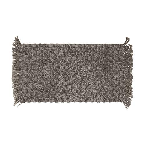 French Connection Arta Bath Rug, 17 in. x 24 in, Charcoal