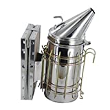 Generic Bee Hive Smoker Stainless Steel w/ Heat Shield Beekeeping Tool