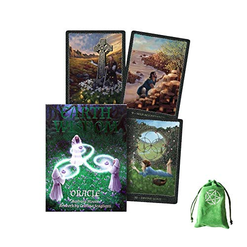 Earth Wisdom Oracle Cards Friends Family Party Playing Holiday Happy Board Game Gift Cards,with Bag,Tarot Cards