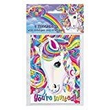 Rainbow Majesty by Lisa Frank Invitations, 8ct by Unique Party Favors