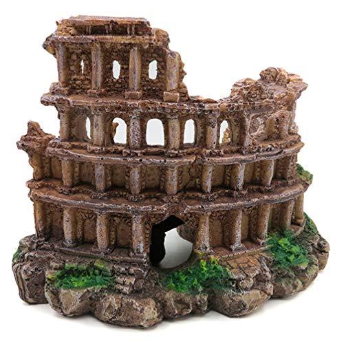 Balacoo Columnas Romanas de Resina Ruinas Decoración del Acuario Vintage Retro Pecera Decoración del Paisaje Ornamento para Acuario Pecera