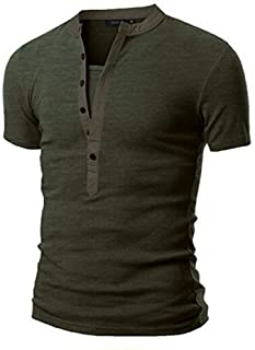 YOcheerful Man Short Sleeve Shirt Top Blouse Polo Sexy Workwear Business Jumper
