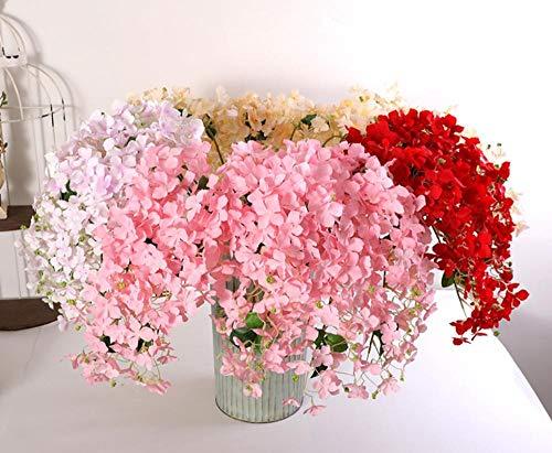 FILWHT - Flor Artificial de imitación para casa, Oficina, jardín, Patio, decoración al Aire Libre, Rosa, 2 Unidades