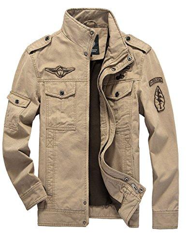 TAIPOVE Jacke Herren Pilotenjacke Männer Feldjacke Militär Jacket mit Mehrere Tasche,Zum Sport,Freizeit,Arbeit,Baumwolle,Frühling,Herbst,Winter