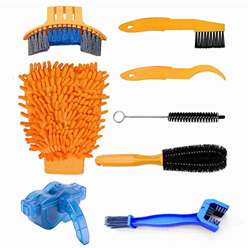 Lelance Bike Cleaning Kit, Bike Motorcycle Chain Cleaner Washing Brush Tool for Motorcycle Bicycle Bike Chain/Crank/Tire/Sprocket