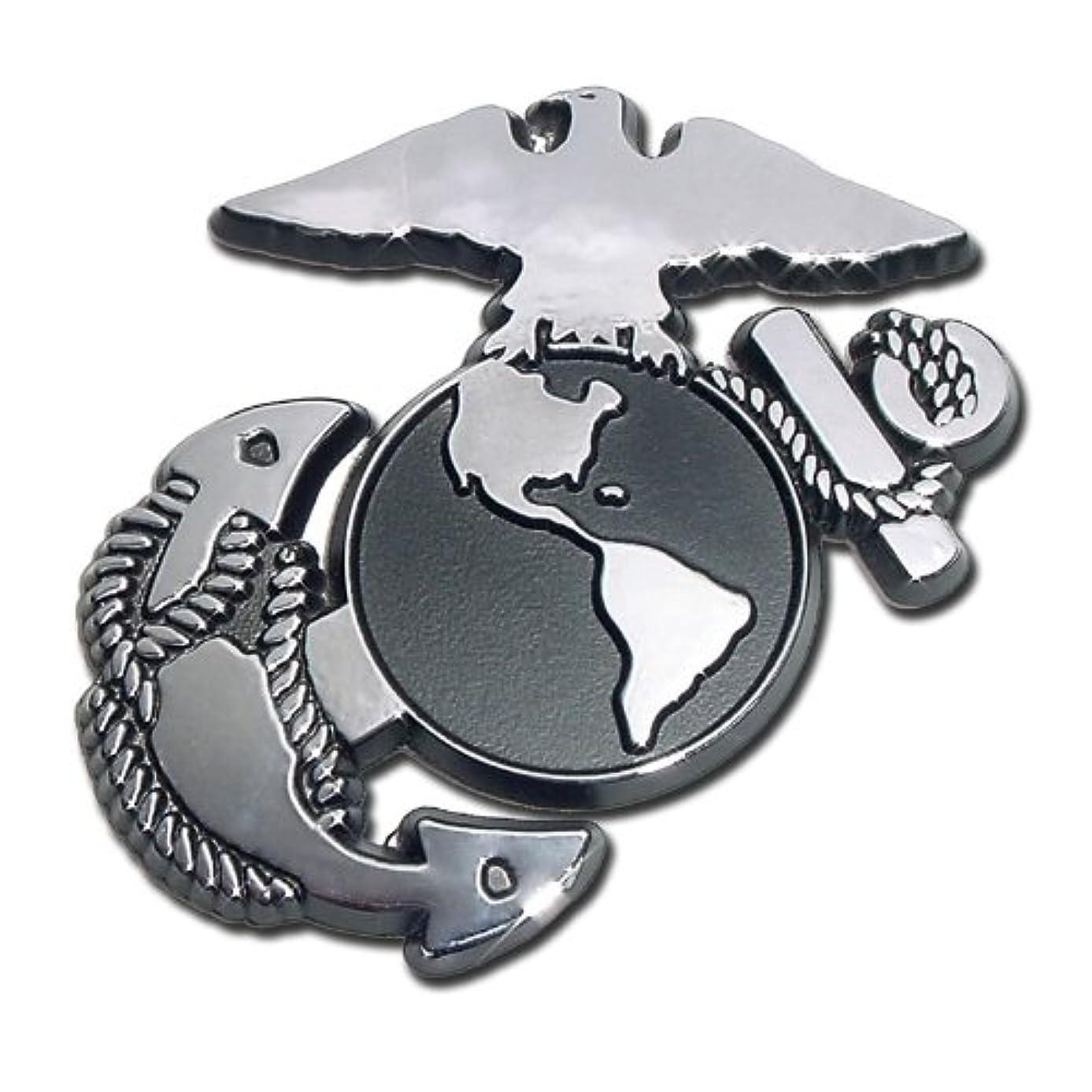 Elektroplate USMC Marine Corps EGA Eagle Globe Anchor Chrome Plated Premium Metal Car Truck Motorcycle Emblem