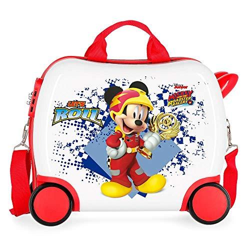 Disney Mickey Joy Maleta Infantil Multicolor 41x34x20 cms Rígida ABS Cierre combinación 25L 2,1Kgs 4 Ruedas Equipaje de Mano
