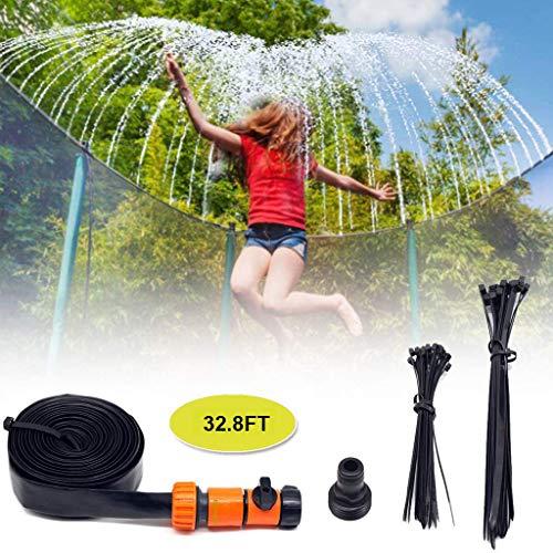 Aomili Trampoline Sprinkler for Children Summer waterpark Trampoline Play,Sprinklers with Safe Hose ,Sprinkler Control for Cooling 15M (49.2FT) und with Cable Ties Kostenlos