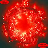 MYGOTO 33FT 100 LEDs String Lights Waterproof Fairy Lights 8 Modes with Memory 30V UL Certified Power Supply for Home, Garden, Wedding, Party, Christmas Decoration Indoor Outdoor (Red)