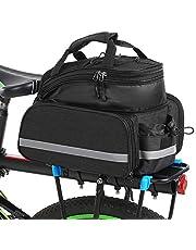 Lixada Multifunctionele tas, zadel achter, tas voor fiets, MTB, zitting, fietstas, als handtas en schoudertas