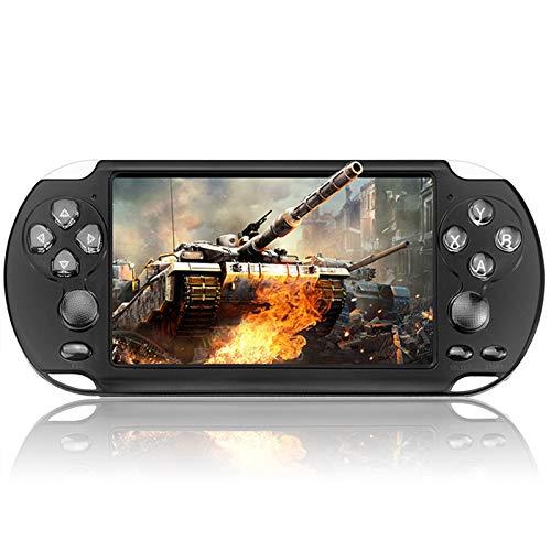 QiaoJia Console de jogos portátil com tela de 5,1 polegadas, console portátil de 8 GB PSP, console de jogos integrado 10.000 jogos para presentes de aniversário de crianças - suporta download de jogos