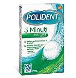 polident 3 minuti pulitore quotidiano per protesi dentali, 36 compresse