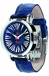 Gio Monaco Men's 154-A oneOone Automatic Blue Alligator Leather Watch image