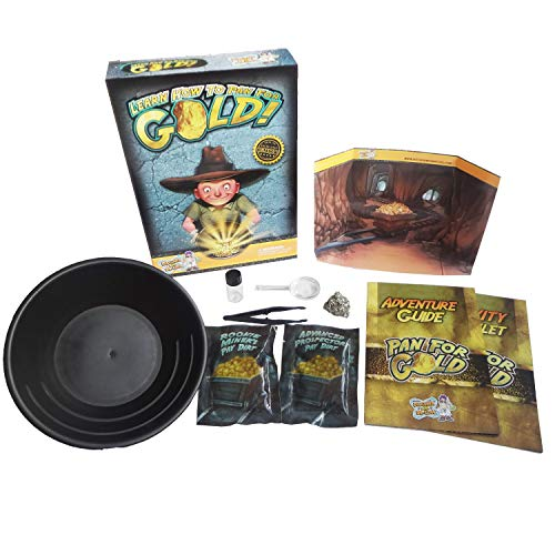 Discover with Dr. Cool Pan for Gold Science Kit - Learn Gold Panning and Become a Prospector